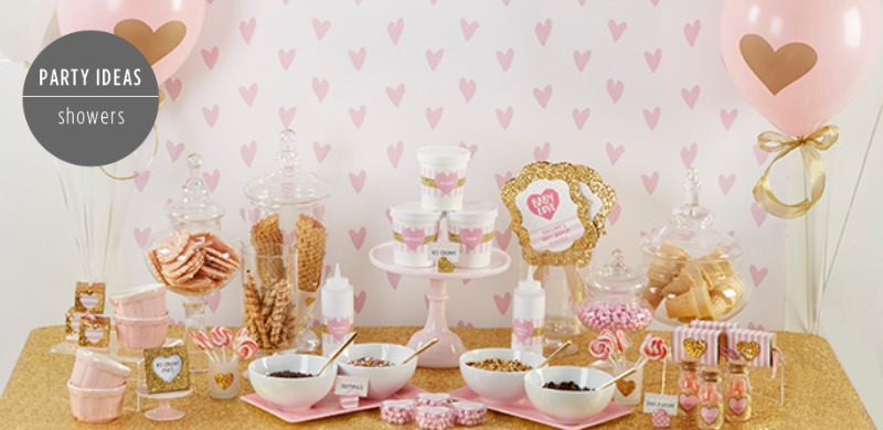pink and gold baby shower parties for penniesparties for pennies