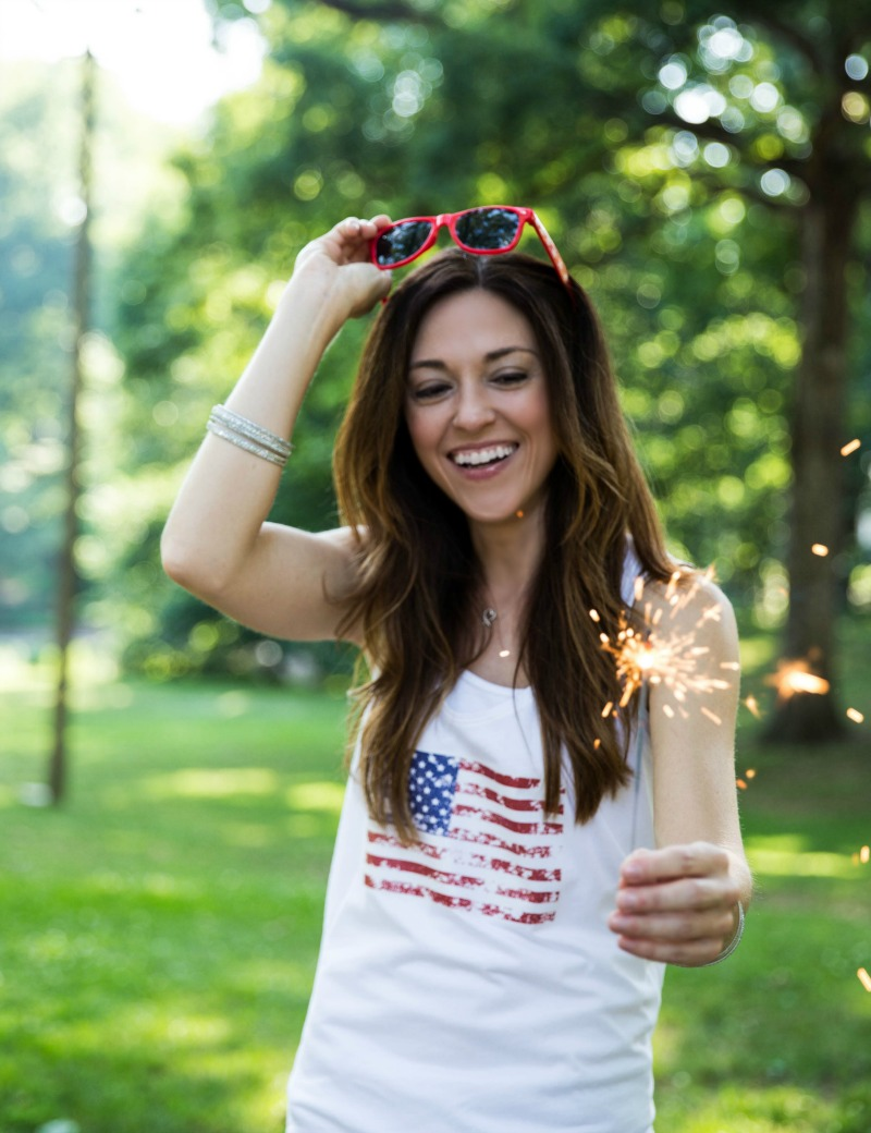 DIY 4th of July Tanks by PartiesforPennies.com | Download, Patriotic, Tees, Flag, Merica Tank, American Flag Peace Sign, American Flag, Sparklers