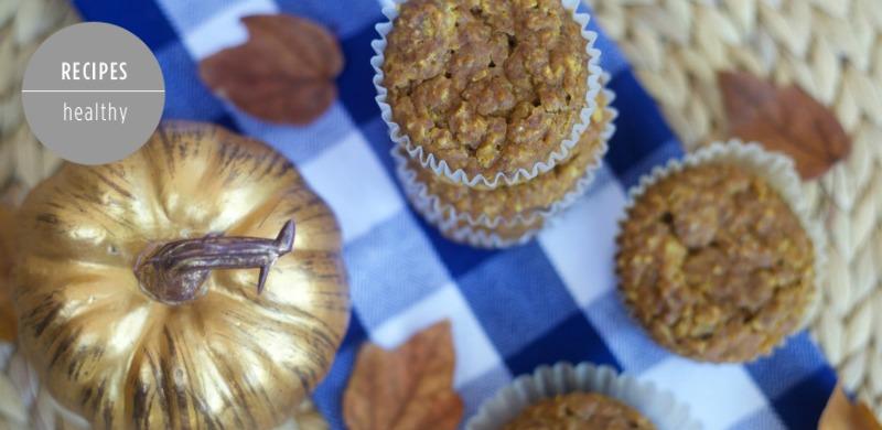Gluten Free Pumpkin Oatmeal Muffins by PartiesforPennies.com | Healthy, Recipe, Fall, Pumpkin, Breakfast, Brunch