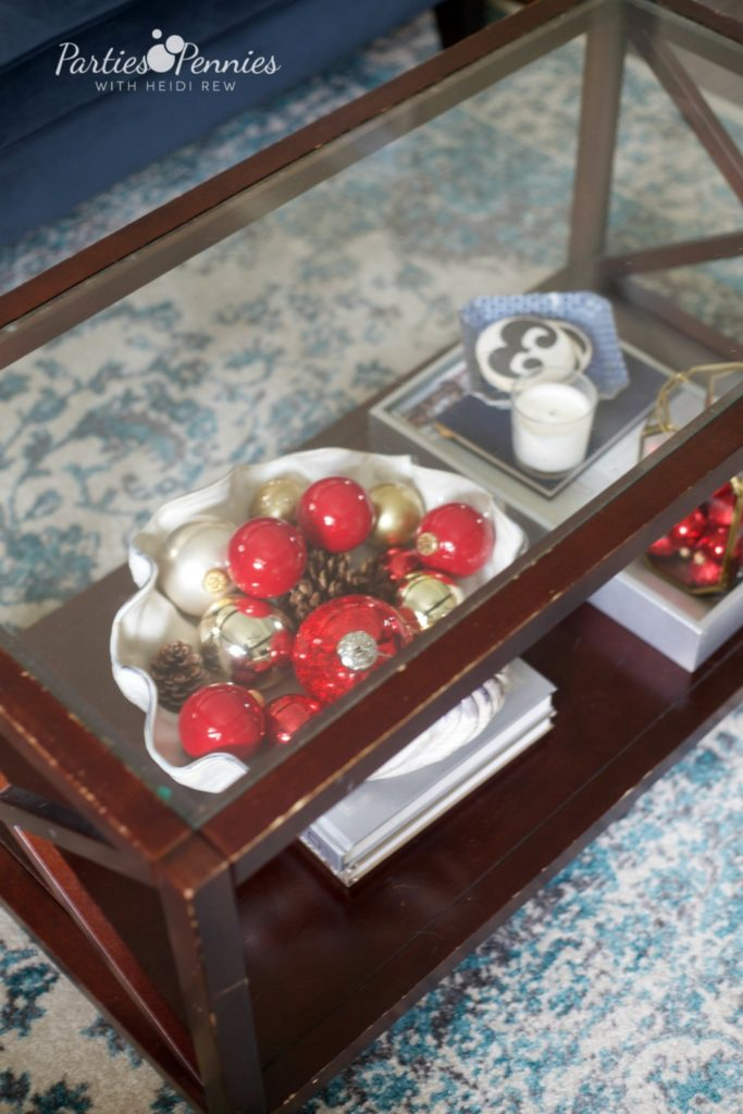 Christmas Home Tour by PartiesforPennies.com | Red, Green, Plaid, Christmas Decorations, Ornaments