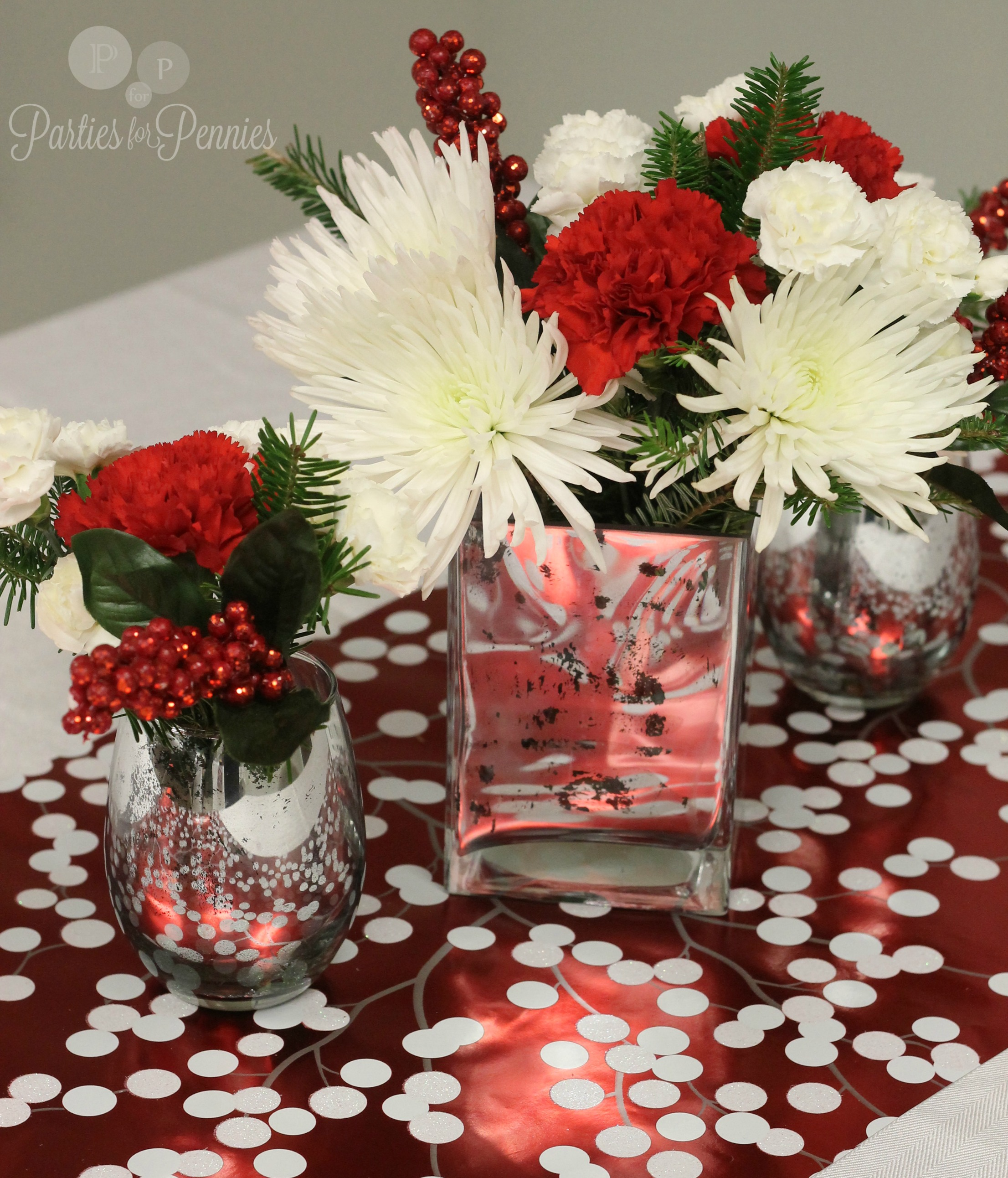 Christmas Flower Decorations Ideas.Christmas Party Ideas Parties For Pennies