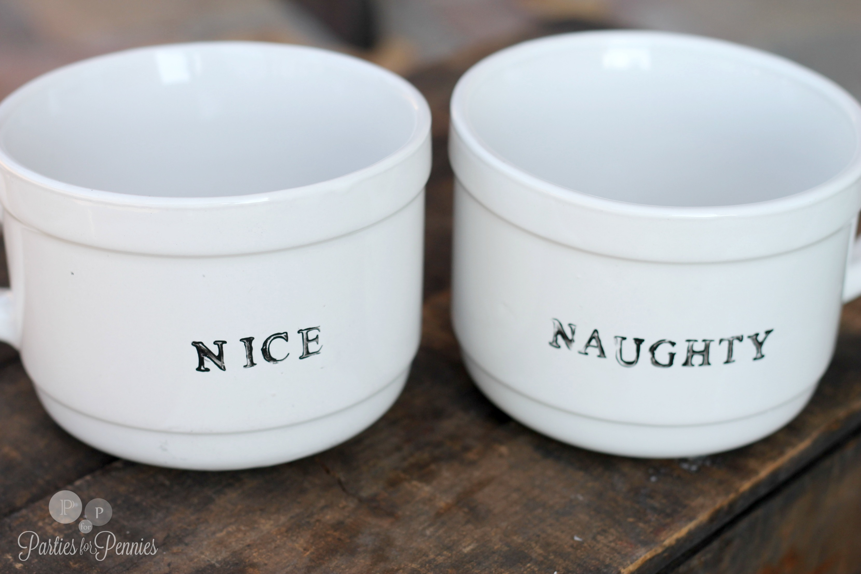 Homemade Gift Idea Christmas Mugs Parties For Pennies