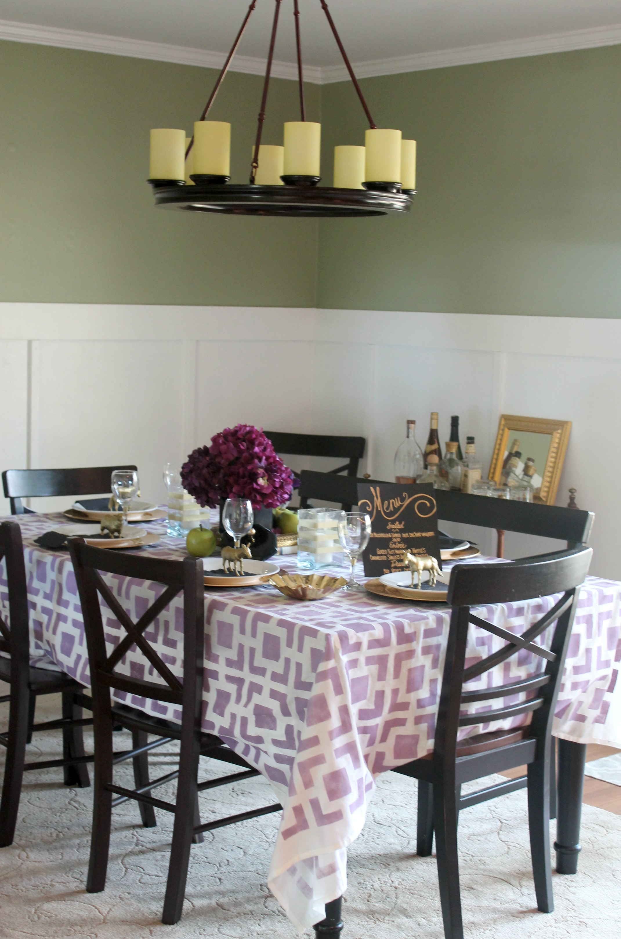 Purple Black Gold Tablesetting Ideas Parties For Pennies