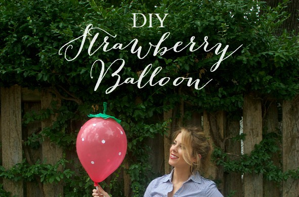 DIY Strawberry Balloon | PartiesforPennies.com | #diy #balloon #strawberryshortcake #balloontime