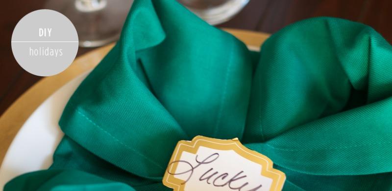 How to Fold a Four Leaf Clover Napkin