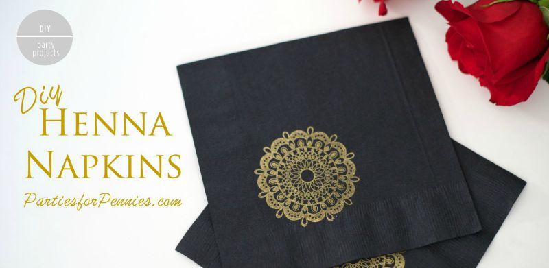 Diy Napkins | Personalized Napkins | Indian Wedding | Henna Napkins | #diy #napkins #partysupplies