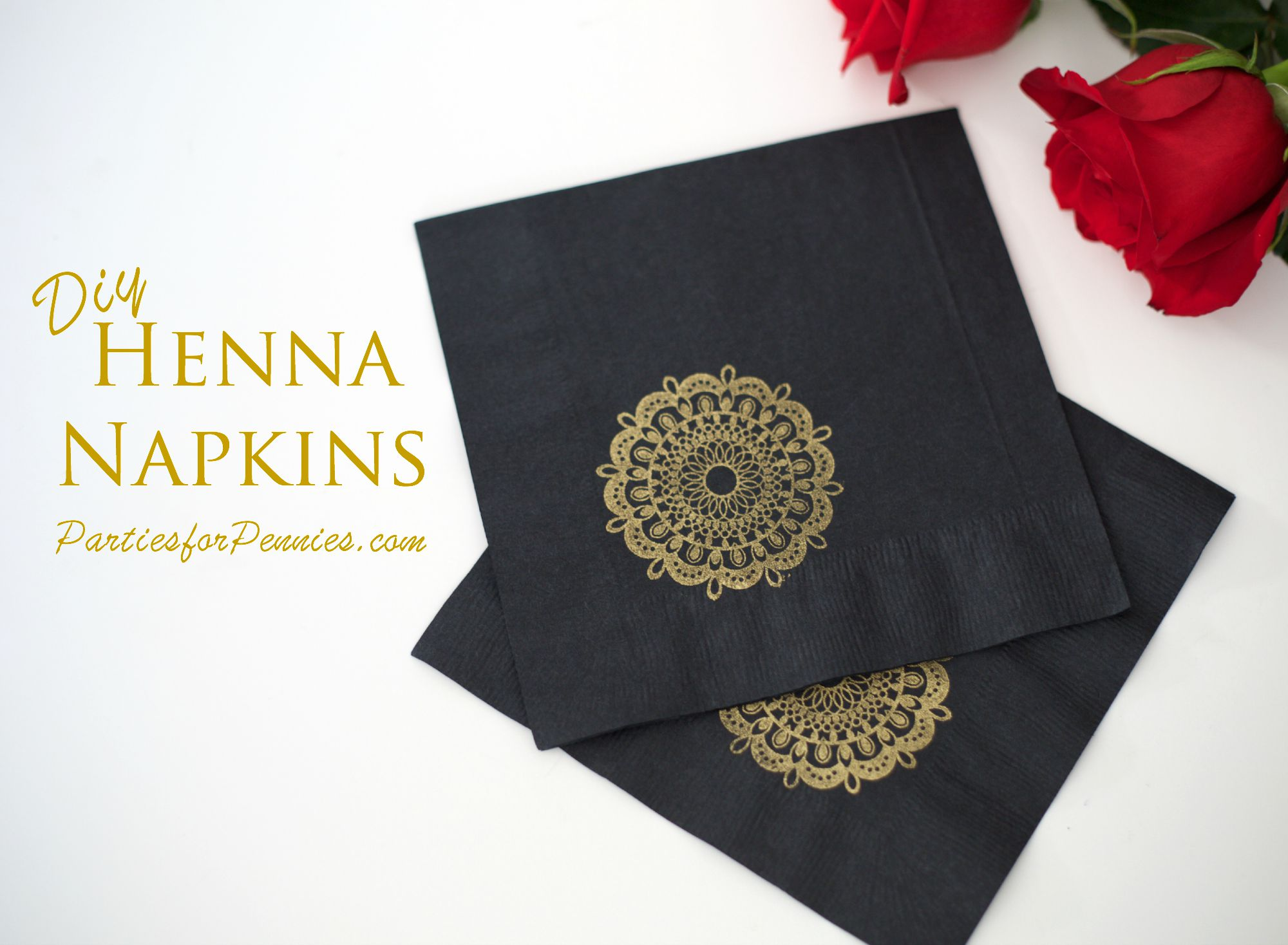 Diy Henna Napkins Parties For Pennies