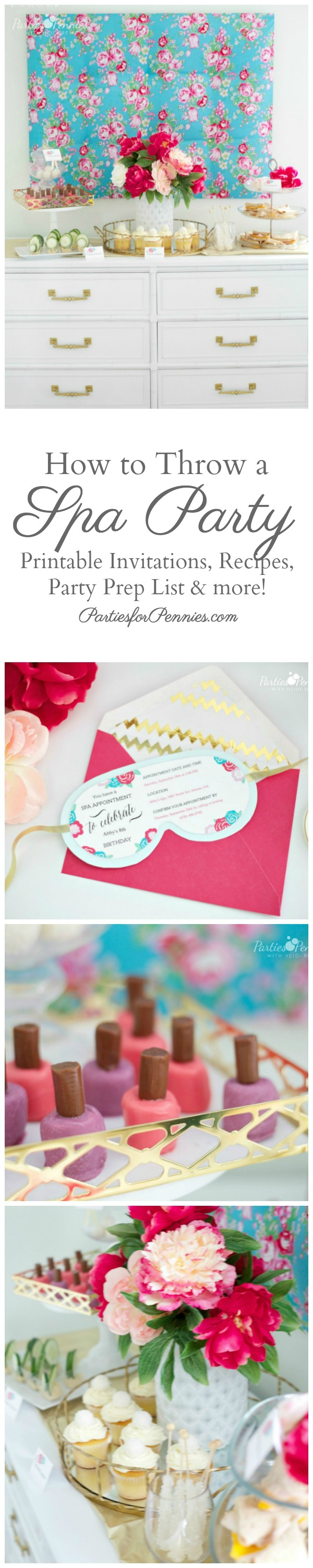 image about Spa Party Printable identified as Spa Get together with Printables! - Events for Pennies