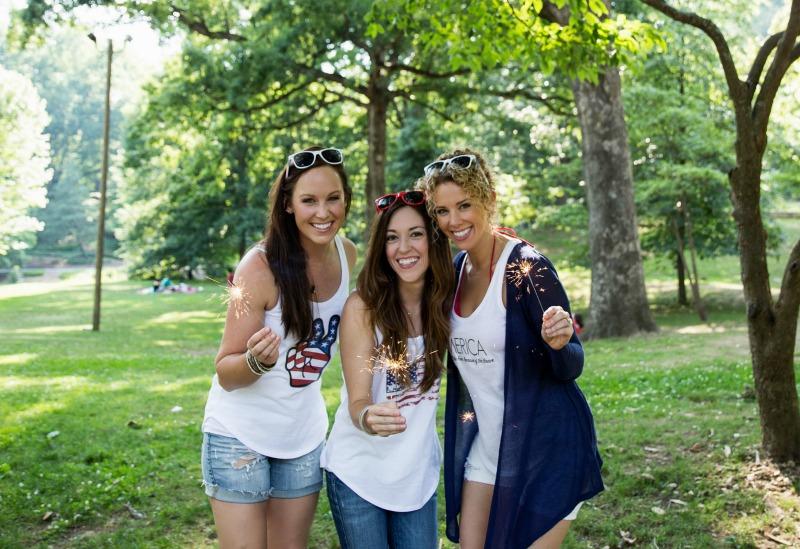girls in Patriotic Shirt