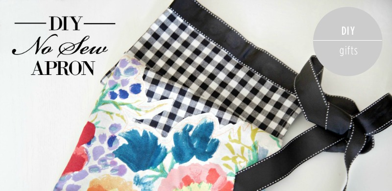DIY No-Sew Apron by PartiesforPennies.com | Gift, Homemade Gift, DIY Gift, Heidi Rew, Christmas, Bridesmaid gift, Wedding Gift, No Sew, Apron, Hostess Gift, Kitchen Towel