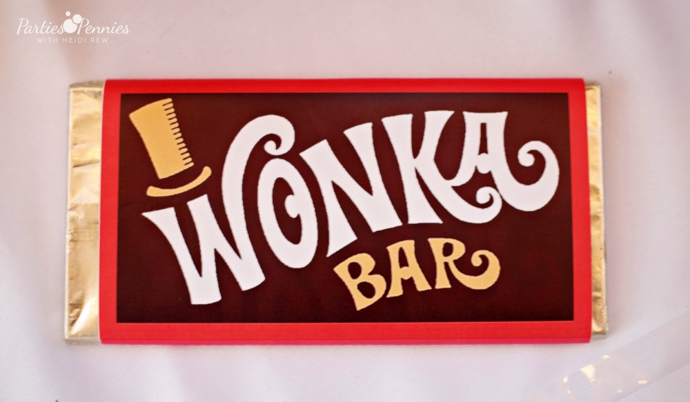 photograph relating to Wonka Bar Printable named Willy Wonka Halloween Social gathering - Get-togethers for Pennies