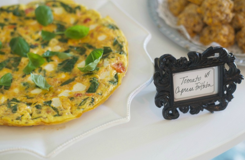 Breakfast at Tiffany's Baby Shower - Tomator Caprese Frittata