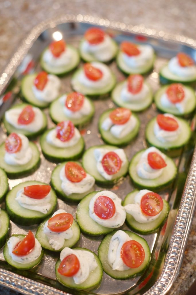 Breakfast at Tiffany's Baby Shower - Cucumber Appetizer, Cucumber Bites
