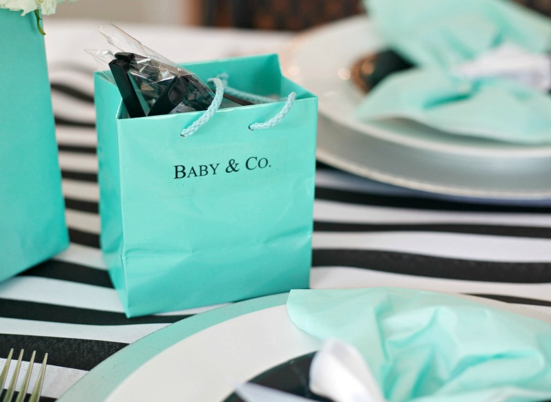 Breakfast at Tiffany's Baby Shower, Favors, tiffany blue bag, gift bag