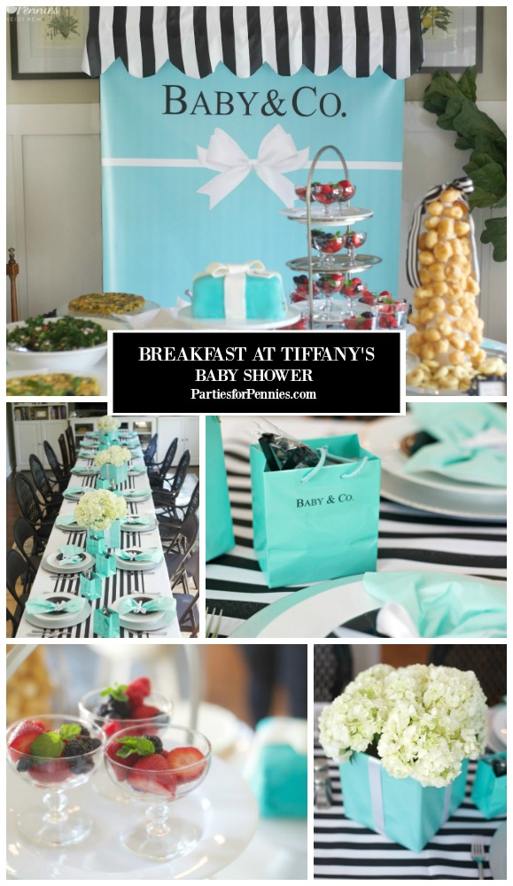 Breakfast at Tiffany's Baby Shower by PartiesforPennies.com