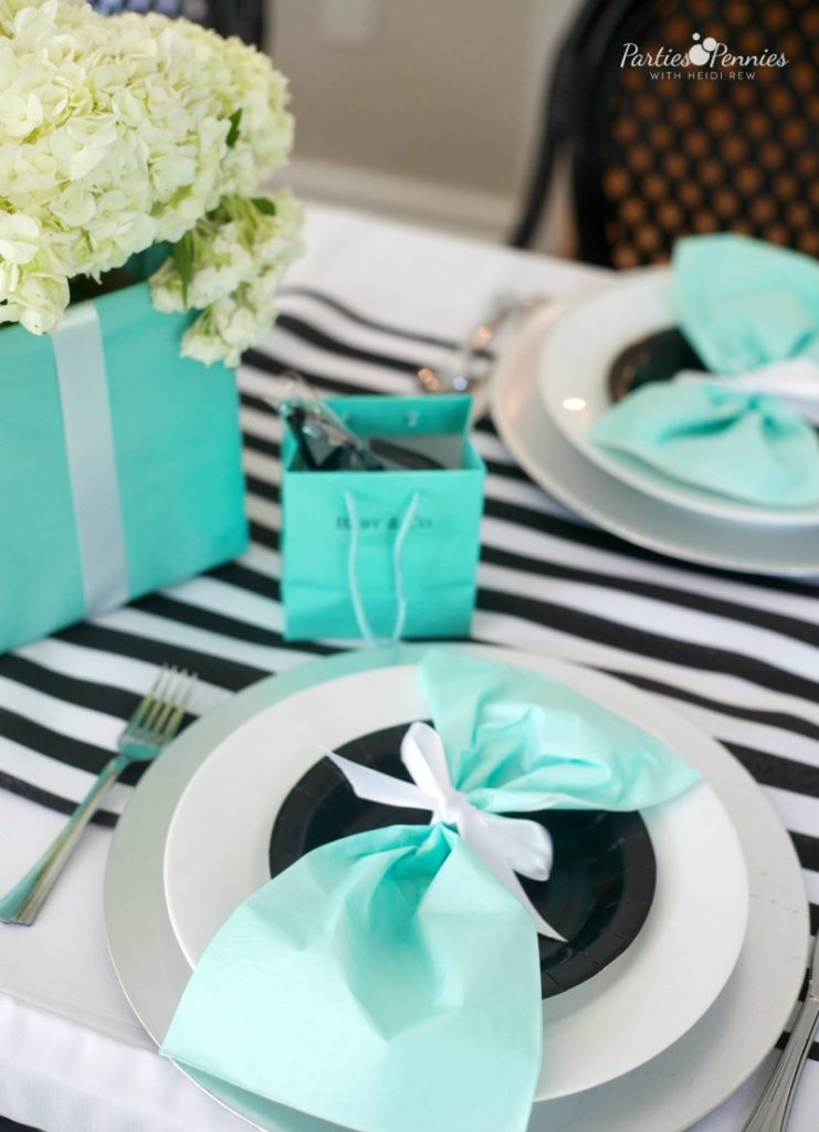 Breakfast at Tiffany's Baby Shower_Placesetting