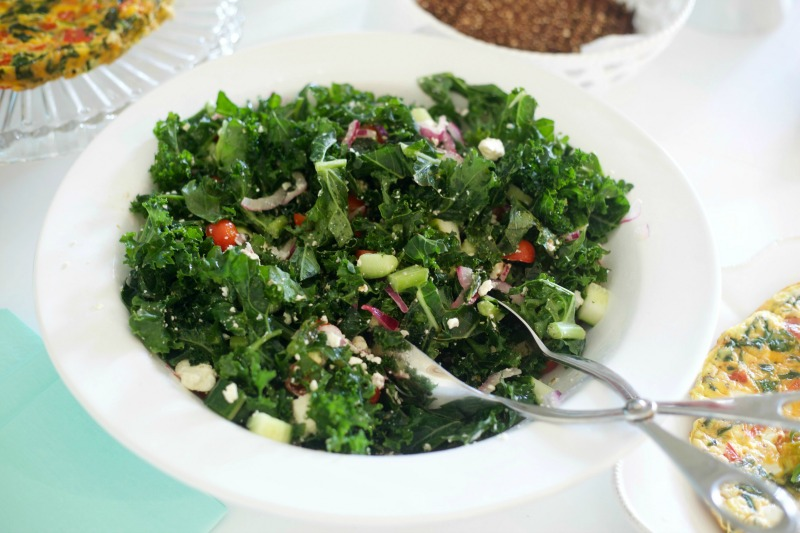 Cucumber Appetizer - Kale Salad, Brunch Menu