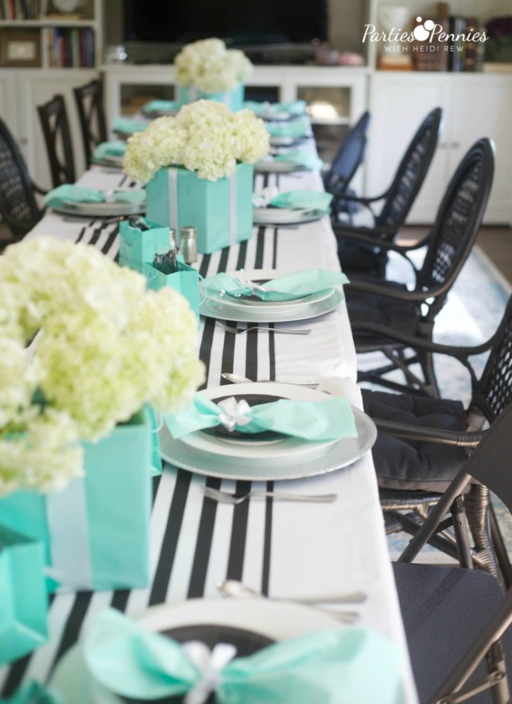 Breakfast at Tiffany's Baby Shower, Table