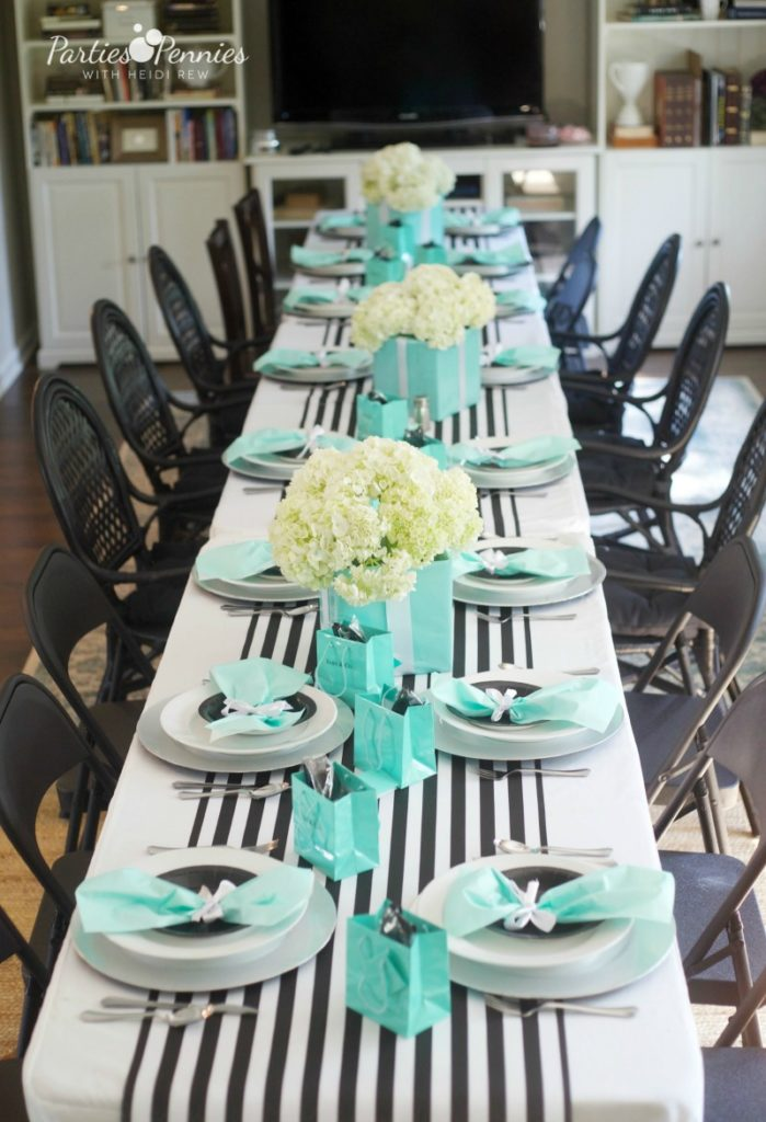 Breakfast At Tiffanys Baby Shower Parties For Pennies