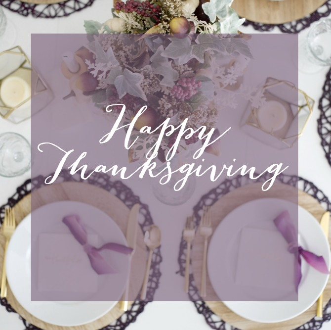 Gold and Plum Thanksgiving Table by PartiesforPennies.com | Thanksgiving Meme