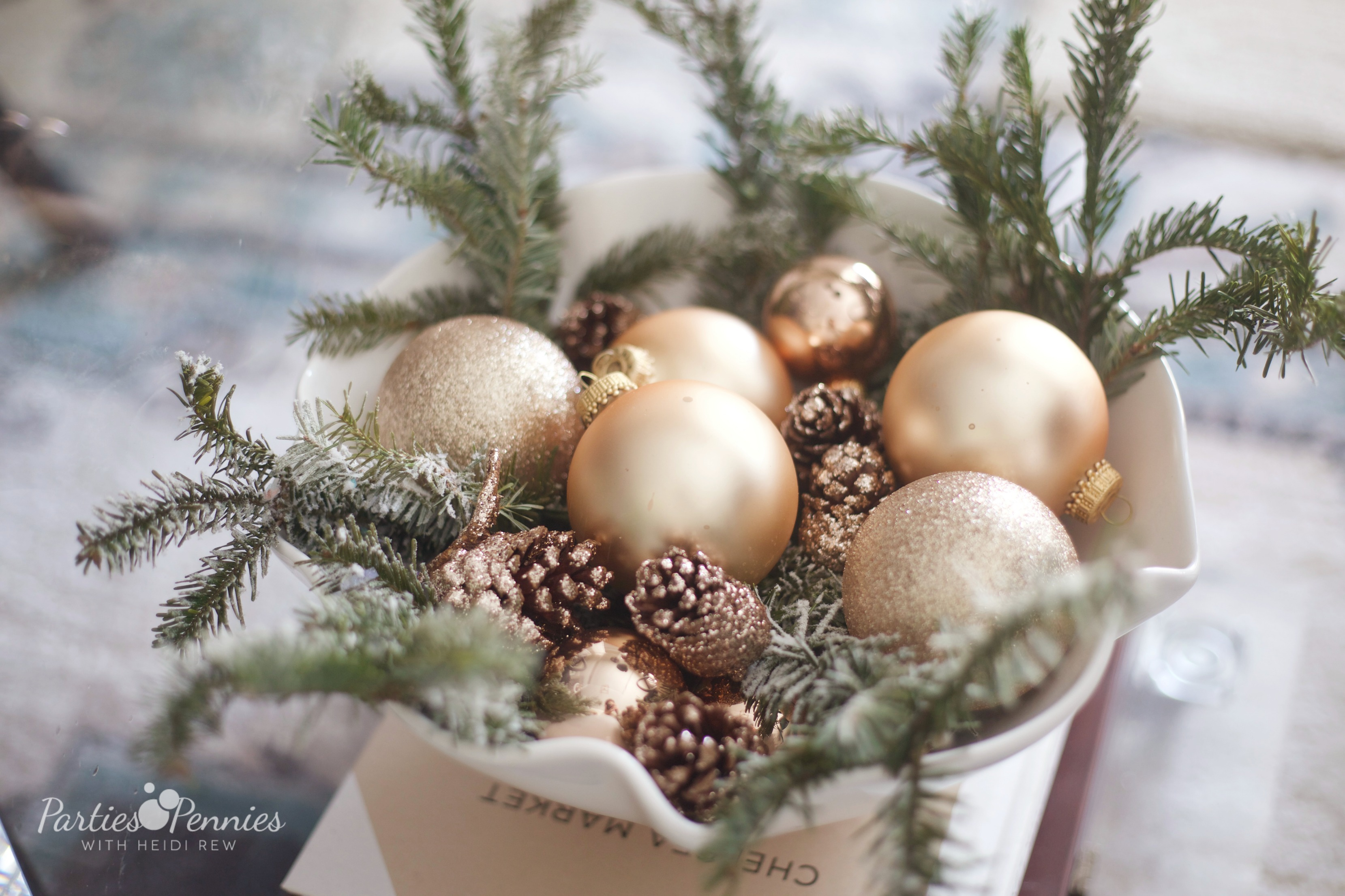 Rose Gold Christmas Decorations | Rose Gold Ornaments | Parties for Pennies